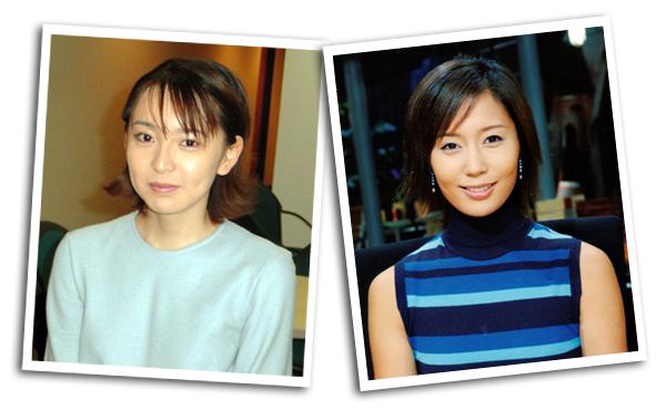 村上祐子アナと河野明子さん(2000年当時)