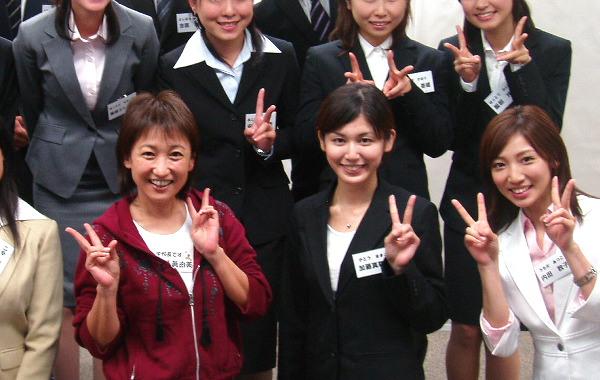 就職セミナー受講生の加藤真輝子アナ(2007年9月当時)